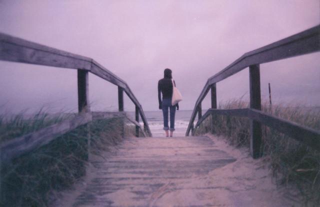 she's walking away