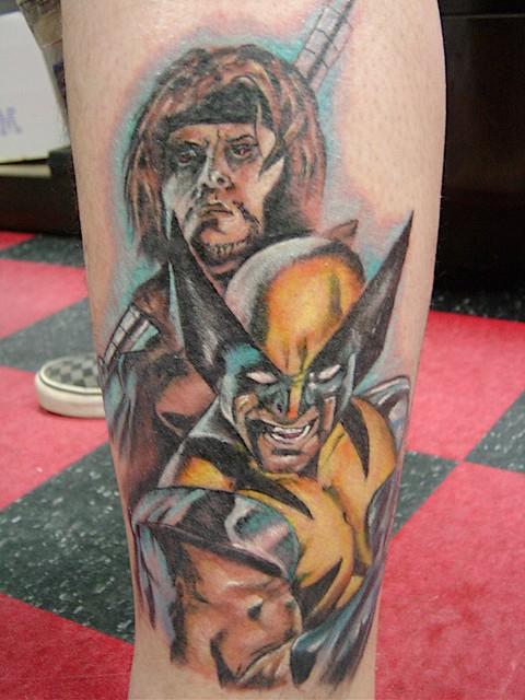 New Gambit and Wolverine Tattoo