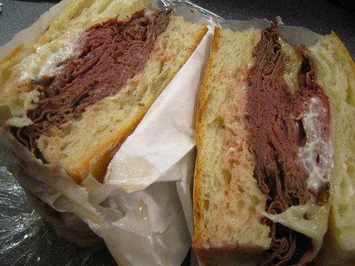 hot roast beef with extra beef