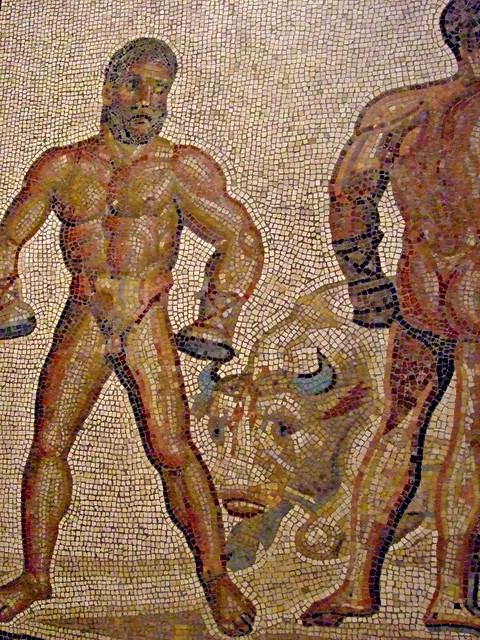Mosaic Floor From A Gallo Roman Villa In Villelaure France