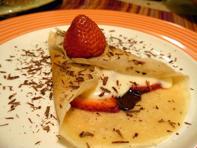 Chocolate Strawberry Crepe