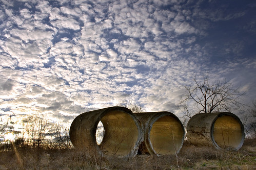 sunset clouds mi concrete pipe hdr lakeorion