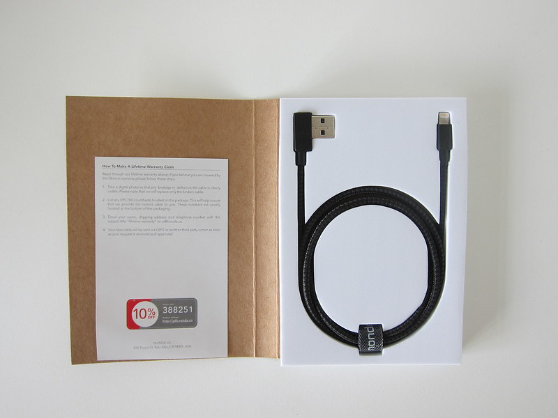 ZUS Super Duty Lightning Cable - Box Open