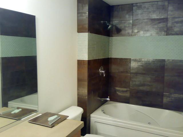 bathroom tile, just finished   Flickr - Photo Sharing!