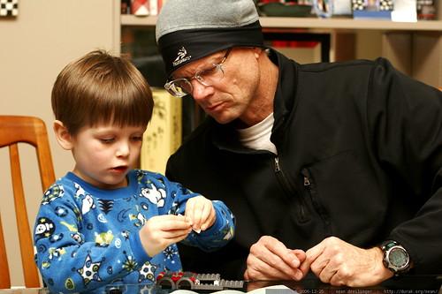 nick and grandpa building the lego firetruck    MG 8052