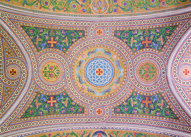 Cathedral Basilica of Saint Louis, in Saint Louis, Missouri - Our Lady's Chapel - chapel ceiling 3.jpg