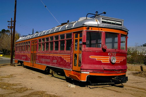 Trolley, Historic Railroad Museum, Perris, California