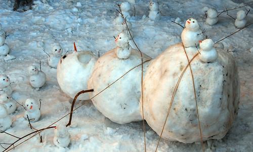 bonecos de neve EUA