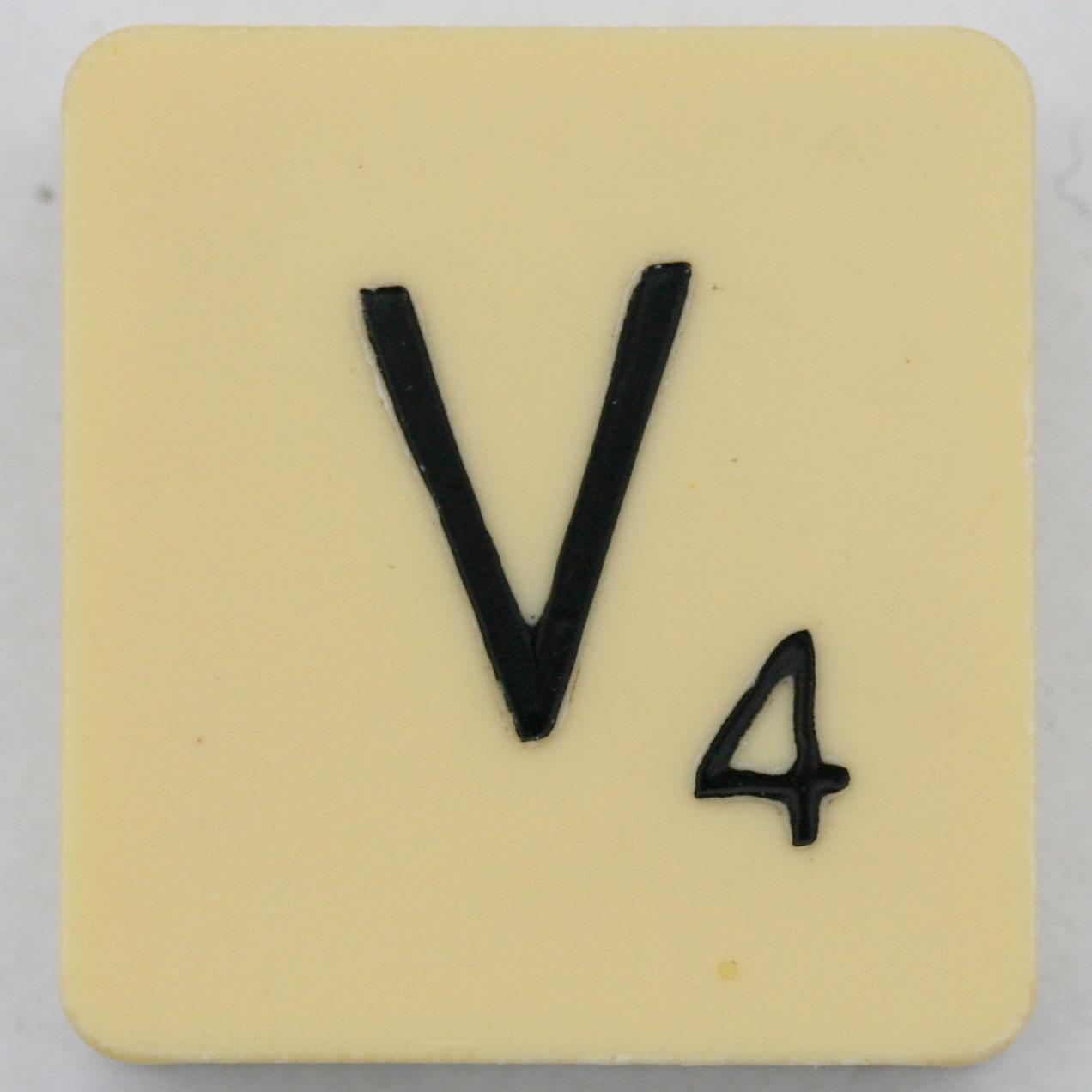Scrabble Letter V - a photo on Flickriver