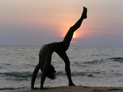 Yoga Sun at any beach of the World.