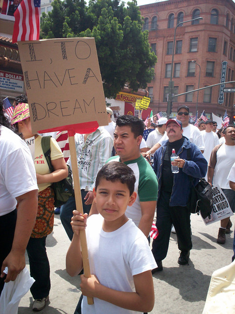 Immigration Rally Kid from Flickr via Wylio