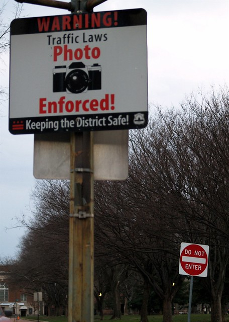 Red Light Camera Map >> Traffic Camera Warning & Do Not Enter Signs At The Corner Of East Capitol Street, SE & Eleventh ...