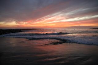 Image of Playa de Fañabe near Playa de las Américas. sunset beach evening tenerife canaryislands hisgett fanabebeach