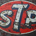 Battle-scarred STP decal