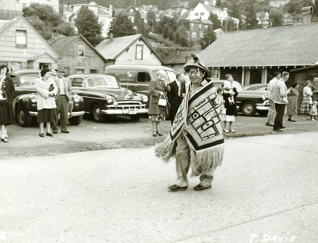 Chilkat Blanket on Parade.