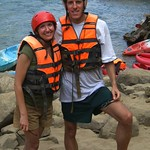 Kayaking Dan and Audrey - Vang Vieng, Laos