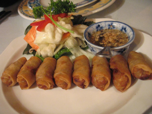 Lawt - Crispy Cambodian's style spring rolls. Ground pork ...