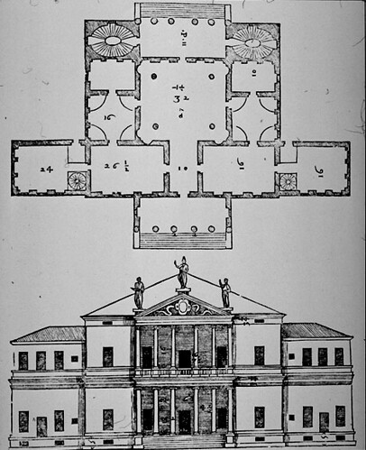Villa Barbaro Plan Villa Barbaro Elev Plan