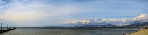 sea panorama beach greece thessaloniki sore salonica perea peraia