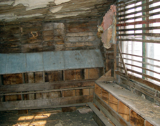 Abandoned chicken coop interior flickr photo sharing for Chicken coop interior designs