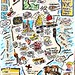 OUR NYC HONEYMOON MAP by Austin Kleon