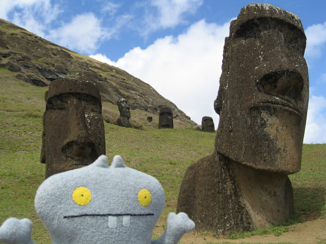 Traveling Babo at Easter Island (Rapa Nui)