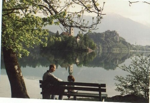 Enjoying Lake Bled May 2002, Slovenia