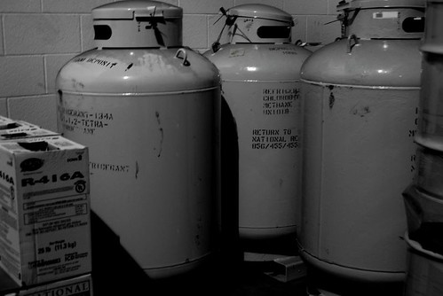tanks of refrigerant