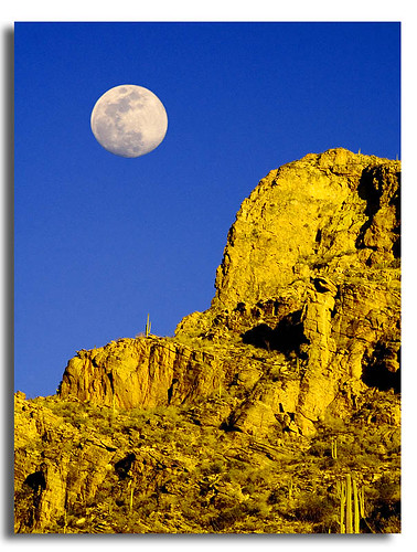 arizona moon landscape scenery mood tucson hiking deserts sonorandesert