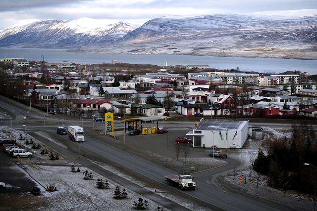 Akureyri við Eyjafjörð
