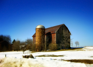 Winter Barn & Silo
