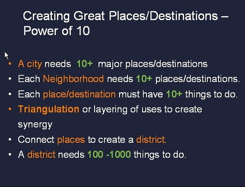Creating Great Places/Destinations