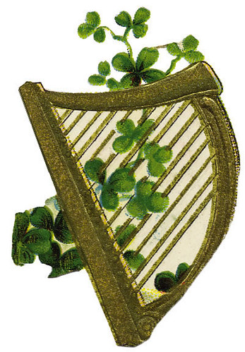 Harp with clovers | Flickr - Photo Sharing!