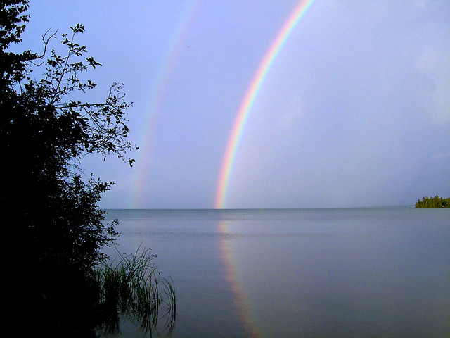 Lake Superior Rainbow, Fujifilm FinePix F420