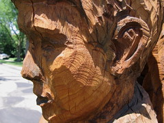 carving, art, chainsaw carving, temple, wood, tree, sculpture, geology, trunk,