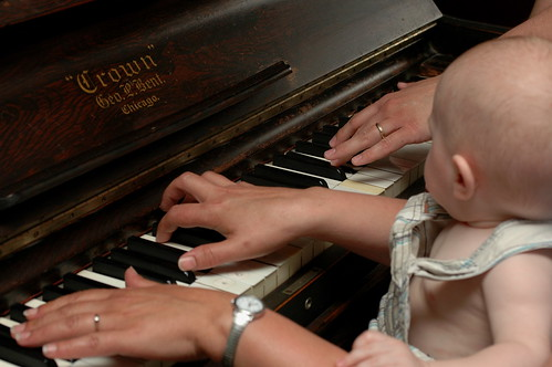 day 357: odin's first piano lesson. I.