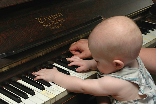 day 357: odin's first piano lesson. III.