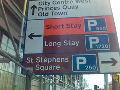 Town road sign