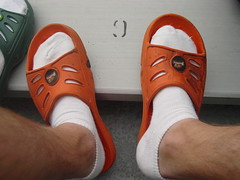 Yet Another Shot of My Orange Sandals