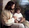 Jesus with little one