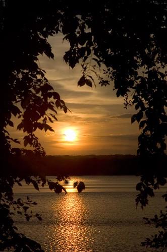 2005 cambridge sunset summer gold golden waterfront massachusetts newengland orb reservoir freshpond freshpondreservoir