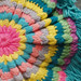 Rainbow Yarn Throw Pillow