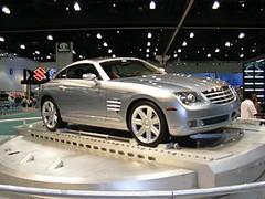 mercedes-benz slr mclaren(0.0), automobile(1.0), executive car(1.0), wheel(1.0), vehicle(1.0), automotive design(1.0), chrysler crossfire(1.0), land vehicle(1.0), luxury vehicle(1.0), supercar(1.0), sports car(1.0),