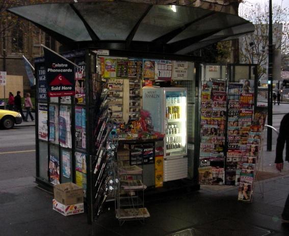 Streetcorner newsbooth