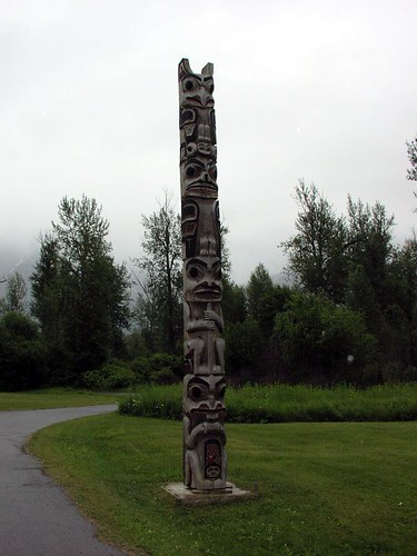 Totem near Prince Rupert / Canada