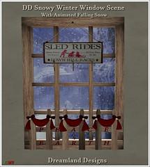 DD Snowy Winter Window Scene Vendor