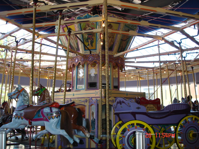indoor carousel at the beach house  glenelg