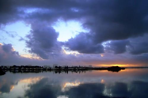 nature beautiful weather clouds sunrise florida fl portorange halifaxriver
