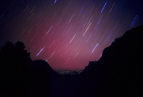 Star Trails over Yosemite Valley