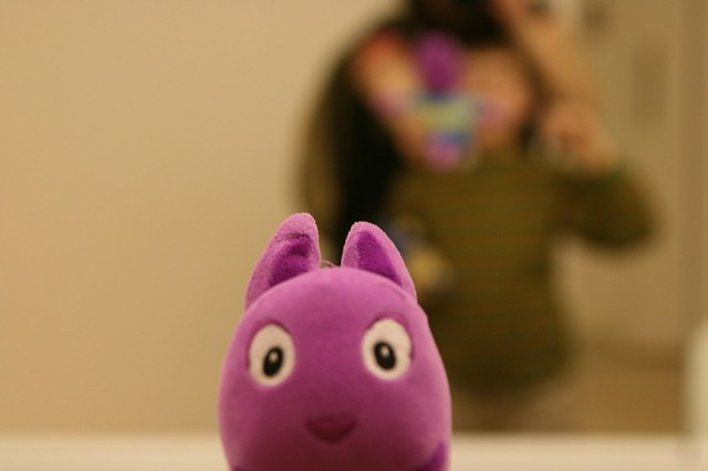 Backyardigans Purple Kangaroo : the little mans way of getting in on the mirror project  Flickr